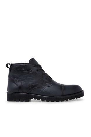 Boots - Boots Fermuarlı Deri Erkek Bot 552660 SİYAH