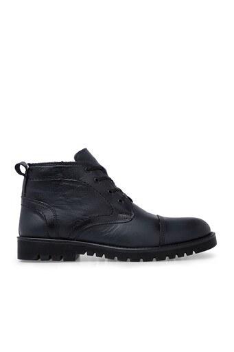 Boots Fermuarlı Deri Erkek Bot 552660 SİYAH