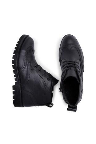 Boots Fermuarlı Deri Erkek Bot 552770 SİYAH