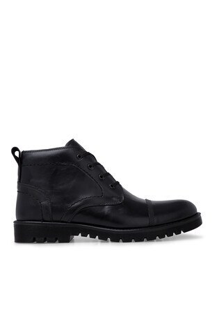 Boots - Boots Fermuarlı Deri Erkek Bot 552890 SİYAH