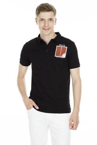 Breezy - Breezy Düğmeli Polo Yaka Erkek T Shirt 2040173 SİYAH