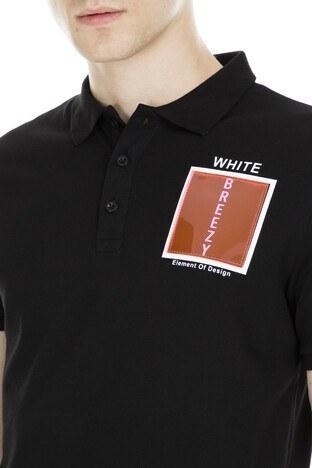 Breezy Düğmeli Polo Yaka Erkek T Shirt 2040173 SİYAH