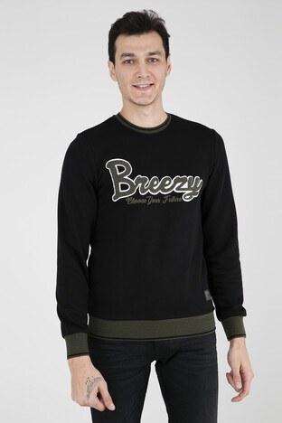Breezy - BREEZY Erkek Sweat 6217 SİYAH