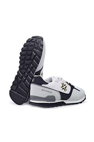 Buckhead Esnek ve Rahat Taban Fundemantal Multi Erkek Ayakkabı BUCK4023 B BEYAZ-GRİ