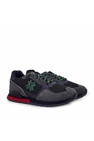 Buckhead Esnek ve Rahat Taban Fundemantal Multi Erkek Ayakkabı BUCK4023 B SİYAH-KIRMIZI