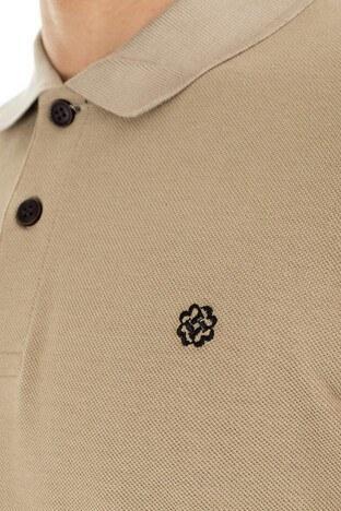 Buratti % 100 Pamuklu Düğmeli Sweat Erkek Polo 4369065 TAŞ