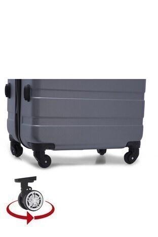 Buratti 3 lü Unisex Valiz Set 533TITANIC GÜMÜŞ