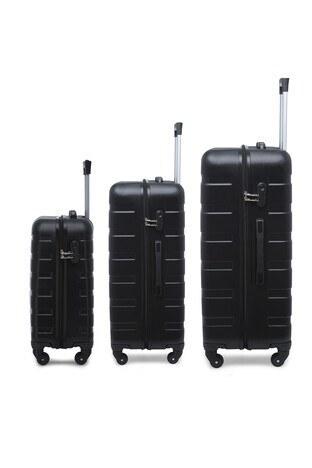Buratti 3 lü Unisex Valiz Set 533TITANIC SİYAH