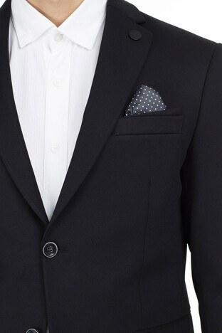 Buratti 6 Drop Tek Yırtmaçlı Klasik Yaka Erkek Ceket BELLO3795 SİYAH