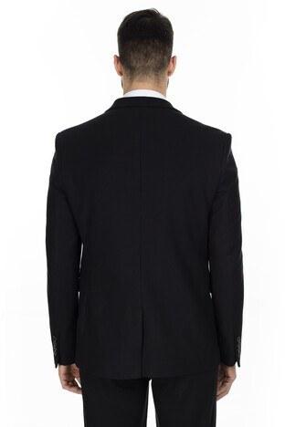 Buratti 6 Drop Tek Yırtmaçlı Klasik Yaka Erkek Ceket FABIEN3815 SİYAH