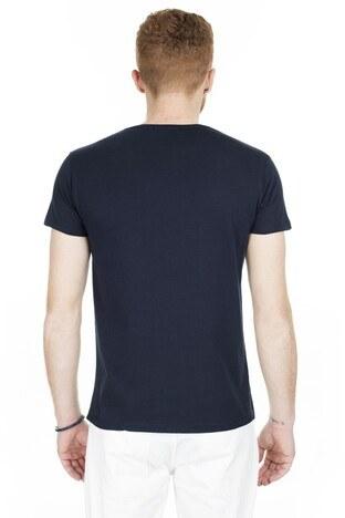 Buratti Baskılı Bisiklet Yaka Erkek T Shirt 54113 LACİVERT