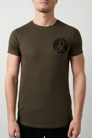 Buratti Pamuklu Baskılı Bisiklet Yaka Erkek T Shirt 5412018R HAKİ