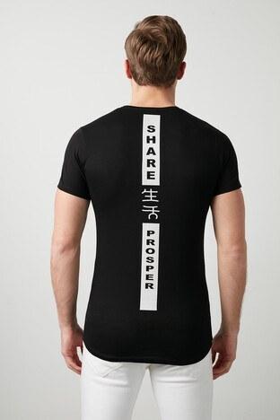 Buratti Pamuklu Baskılı Bisiklet Yaka Erkek T Shirt 5412018R SİYAH