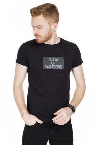 Buratti - Buratti Baskılı Bisiklet Yaka Erkek T Shirt 54133 SİYAH