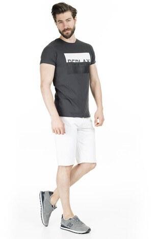 Buratti Baskılı Bisiklet Yaka Erkek T Shirt 54177 GRİ
