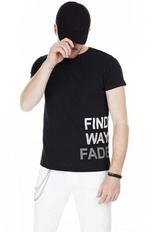 Buratti - Buratti Baskılı Bisiklet Yaka Slim Fit Erkek T Shirt 5412027 SİYAH
