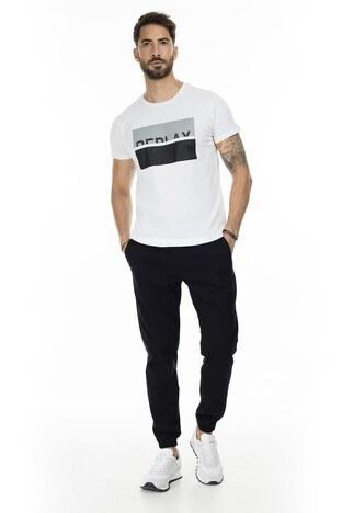 Buratti Baskılı Bisiklet Yaka Slim Fit Erkek T Shirt 54123 BEYAZ