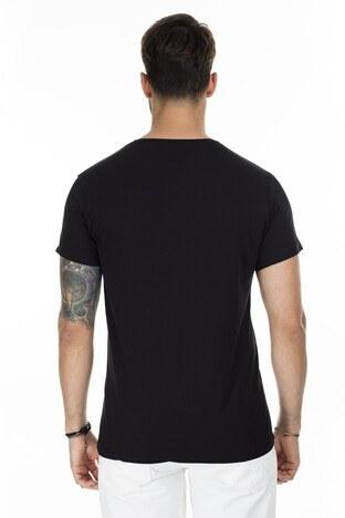Buratti Baskılı Bisiklet Yaka Slim Fit Erkek T Shirt 54186 SİYAH