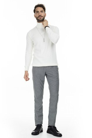 Buratti - Buratti Beli Bağcıklı Erkek Pantolon B1216ELLISTO GRİ