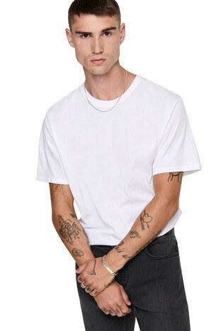 Buratti - Buratti Bisiklet Yaka Erkek T Shirt 22002973 BEYAZ
