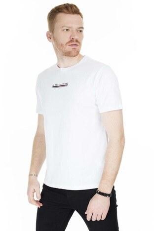 Buratti - Buratti Bisiklet Yaka Slim Fit Erkek T Shirt 0438245 BEYAZ