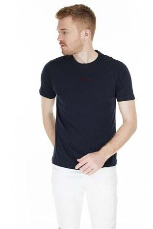 Buratti - Buratti Bisiklet Yaka Slim Fit Erkek T Shirt 0438245 LACİVERT