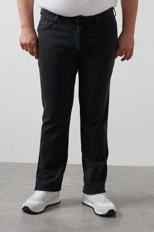 Buratti - Buratti Büyük Beden Regular Fit Jeans Erkek Kot Pantolon 7280H845JEFF B SİYAH