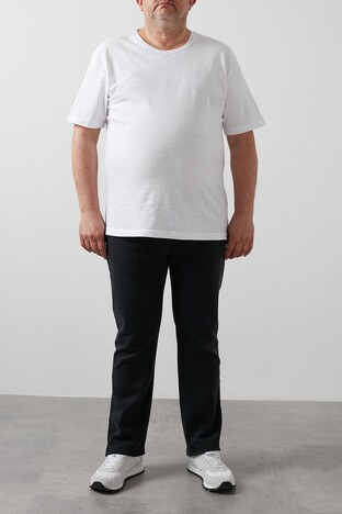 Buratti Büyük Beden Regular Fit Jeans Erkek Kot Pantolon 7280H845JEFF B SİYAH