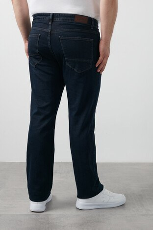 Buratti Büyük Beden Regular Fit Pamuklu Jeans Erkek Kot Pantolon 7280E154JEFF KOYU LACIVERT