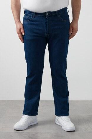 Buratti - Buratti Büyük Beden Regular Fit Pamuklu Jeans Erkek Kot Pantolon 7280E188JEFF KOYU MAVİ