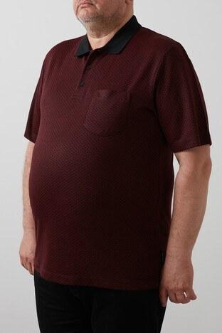 Buratti Büyük Beden T Shirt Erkek Polo 4362057B BORDO