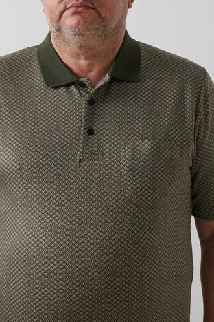 Buratti Büyük Beden T Shirt Erkek Polo 4362057B HAKİ