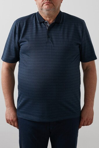 Buratti Büyük Beden T Shirt Erkek Polo 4362060B İNDİGO