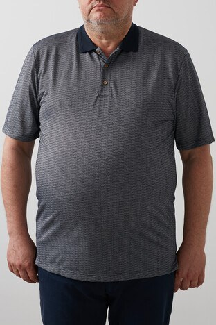 Buratti Büyük Beden - Buratti Büyük Beden T Shirt Erkek Polo 4362063B LACİVERT