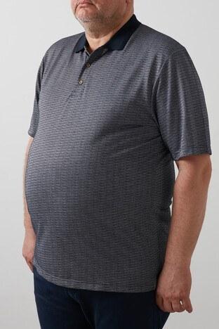 Buratti Büyük Beden T Shirt Erkek Polo 4362063B LACİVERT