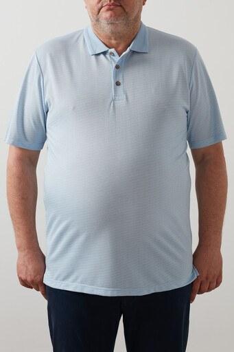 Buratti Büyük Beden T Shirt Erkek Polo 4362063B MAVİ
