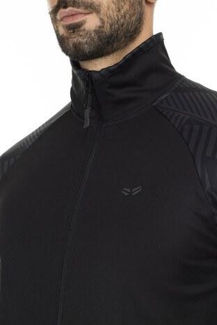 Buratti Cepli Dik Yaka Fermuarlı Slim Fit Spor Eşo Erkek Sweat 5658002S SİYAH