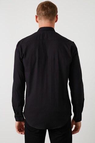 Buratti Çift Cepli Uzun Kollu Slim Fit Erkek Gömlek CF20S112425 SİYAH