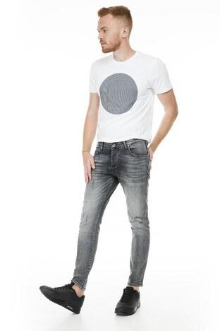 Buratti - Buratti Dar Kesim Jeans Erkek Kot Pantolon 7178F233BARTEZ GRİ