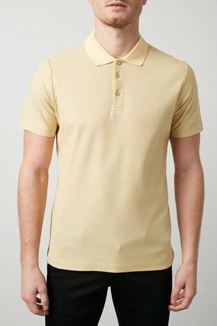 Buratti Pamuklu Düğmeli T Shirt Erkek Polo 566CF0012 Saman