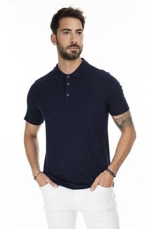 Buratti - Buratti Düğmeli T Shirt Erkek Polo 566CF00122 LACİVERT