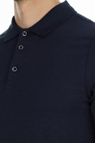 Buratti Düğmeli T Shirt Erkek Polo 566CF00122 LACİVERT