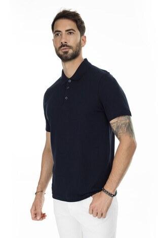 Buratti - Buratti Düğmeli T Shirt Erkek Polo 566CF00125 LACİVERT