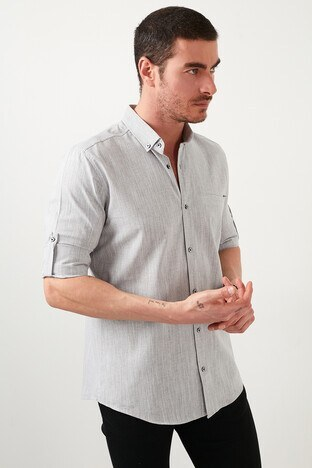 Buratti Erkek Gömlek CF21S111538 GRİ