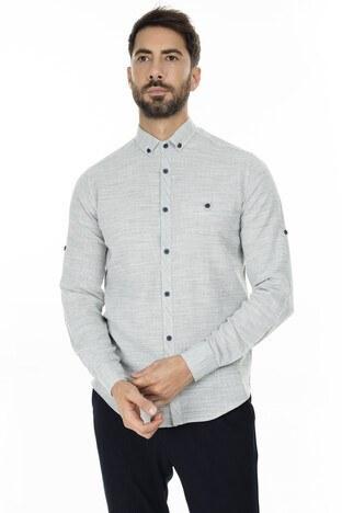 Buratti - Buratti Düğmeli Yaka Erkek Gömlek CF20S111498 HAKİ