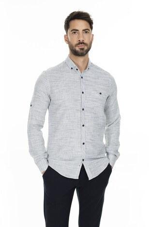 Buratti Düğmeli Yaka Erkek Gömlek CF20S111498 LACİVERT