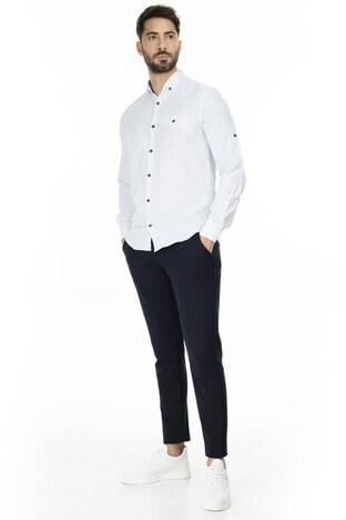 Buratti Düğmeli Yaka Erkek Gömlek CF20S111498 MAVİ