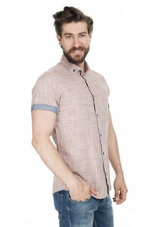 Buratti - Buratti Düğmeli Yaka Erkek Gömlek CF20S112546 KIRMIZI
