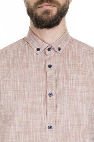 Buratti Düğmeli Yaka Erkek Gömlek CF20S112546 KIRMIZI