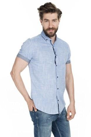 Buratti - Buratti Düğmeli Yaka Erkek Gömlek CF20S112546 SAKS